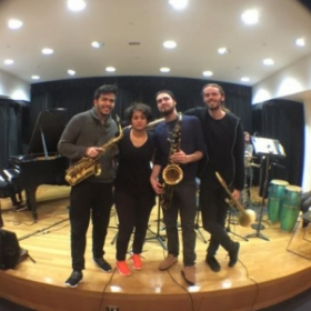 New School Earth Wind and Fire Repertoire Ensemble Horn Section (Recording Session)