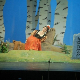 Performing the role of the Baker's Wife in Into the Woods by Stephan Sondheim.
