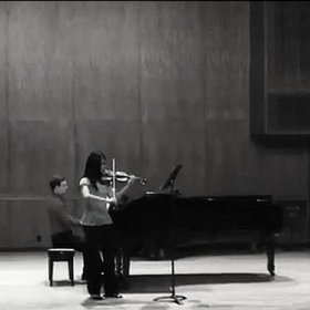 Performing a solo through an elective music course in college (Austin, TX 2013)