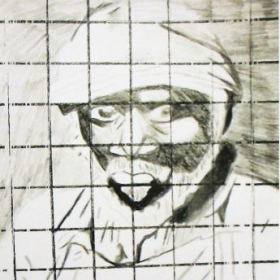 Student: Susan D. (Age 14) Grid Line Drawing