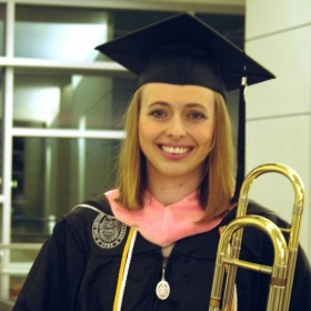 Graduation from the University of Tennessee in 2016 with a Master of Music degrees in trombone performance and music theory pedagogy.