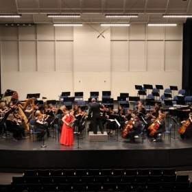 Performing with the Roberts Wesleyan College orchestra as the concerto competition winner of 2015/2016.