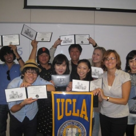 With my students at UCLA Extension, October 2011