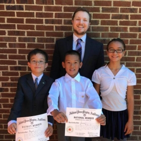 Students who participated in and won National Piano Guild auditions in 2016!