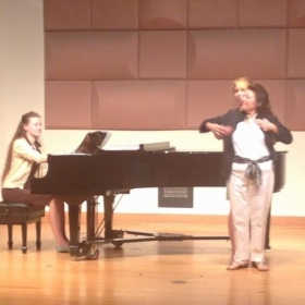 Working with Helen Donath during a masterclass hosted by Frost Opera Theater