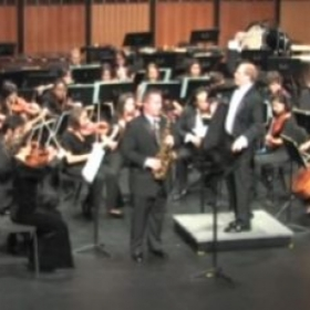 Performing Ibert's Concertino da Camera with the MSU Symphony Orchestra
