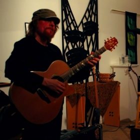 on the acoustic guitar
