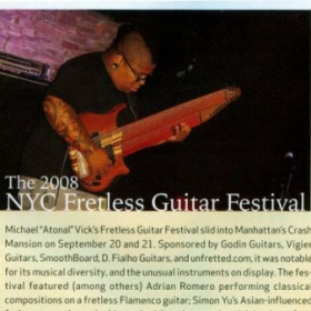 Marcus Webb written up and shown above in Guitar Player magazine.  January 2009