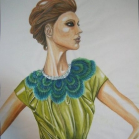 Fashion illustration and painting
