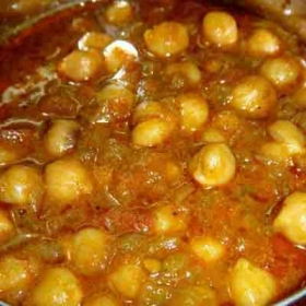 Chole masala in desi style with various spices to make rich gravy