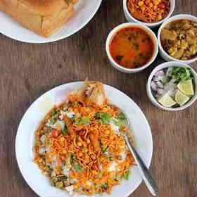 Misal Pav - The famous Bombay dish in typical Bombay style