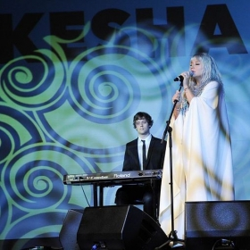 Here I am gigging with Ke$ha.