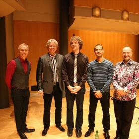 After a concert where the Kronos Quartet played one of my pieces.