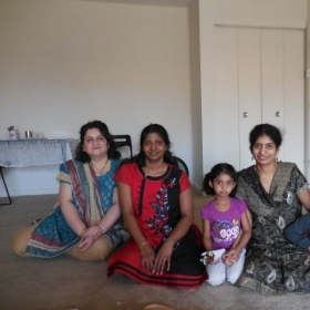 My students enjoying a picture with their teacher (Prajakta)