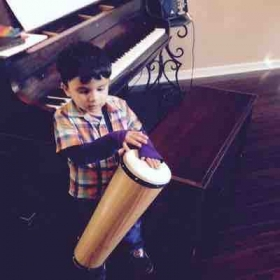 Percussion instruments add to the learning of rhythm and help make piano lessons fun!