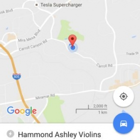 I teach out of San Diego Violins, which was formerly Hammond Ashley Violins.