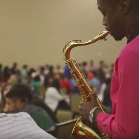 Me playing for the Valdosta State annual international dinner