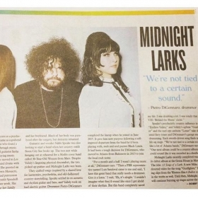 A recent write up in Creative Loafing's music issue about my band Midnight Larks who were named best new Atlanta Band