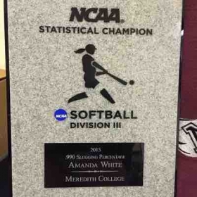 2015 statistic champion (highest slugging % in the country DIII)