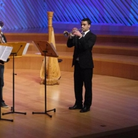 Performing at the New World Center, Miami, FL.