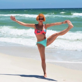 Yoga on the beach in Pensacola Fl. 2016