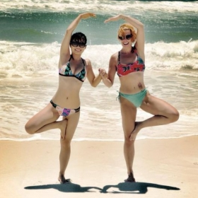 Yoga with my daughter in law. Pensacola Fl 2016