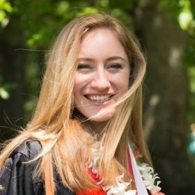 This is a photo from my graduation day at Lewis and Clark College where I earned my BA in Psychology AND Theater. What a happy day!