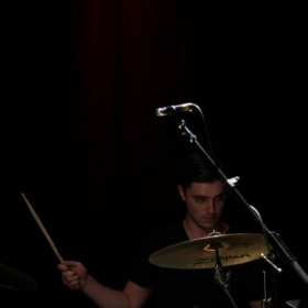Performing with V Blackburn at The Red Room Cafe 939 in Boston, Massachussets.