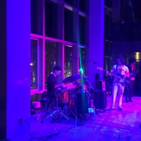 Performing with good friends at Berklee College of Music.