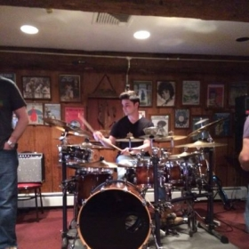 Sitting in with some great players at a bar in Hawthorne, New Jersey.