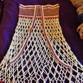 Commissioned crocheted skirt