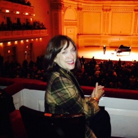 Carnegie Hall.  The best seat in the house!