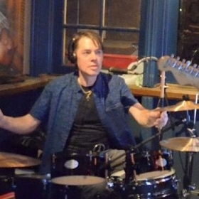 Drum Instructor Chuck Manton at King Street Blues, Old Town Alexandria VA- Photo courtesy of Paul McMahon