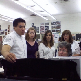 Accompanist at Glen A. Wilson High School, CA