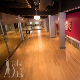 Salsa with Silvia Studios, the beautiful facility for our lessons!