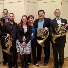 with the Pittsburgh Symphony Horn Section, after being named Low Horn Excerpt Winner at the Northeast Horn Workshop, January 2016