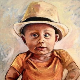 """Oil painting- """"Otto"""""""