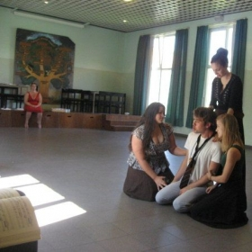 Rehearsing for The Magic Flute