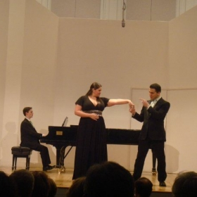 Performing at Manhattan School of Music
