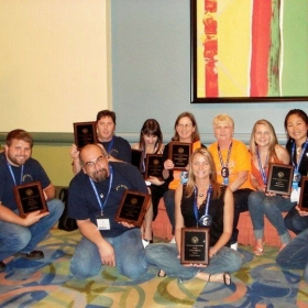 All the awards our chapter won at the PTK convention.
