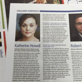Proud day, featured in the Juilliard Journal.