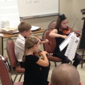 Young violinists at work - love them!
