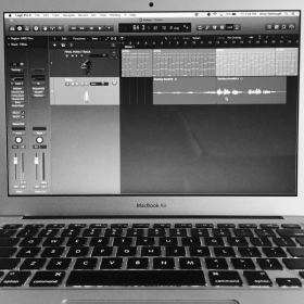 MacBook Air equipped with LogicProX - in studio