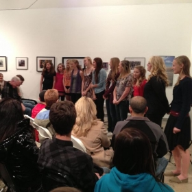 Voice Showcase at an art gallery!