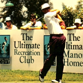 Brad playing as a professional on the Australian PGA Tour 1988