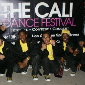 Photo taken after the Hoodbotics poplocking crew and I performed, 2nd place winners for 2010 Cali Dance Festival