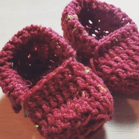 Cozy Infant Slippers. TiffaniLynneCrochet