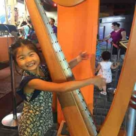My student Viani jamming at the Discovery Science Center