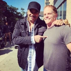 Neil Degrasse Tyson and dave on set of Ted 2 movie. Dave was an extra in the movie and NDT was just saying hello!