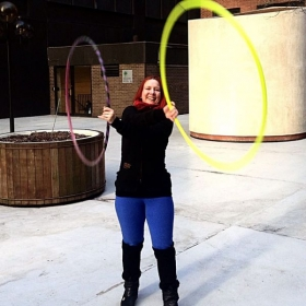playing with twin hoops